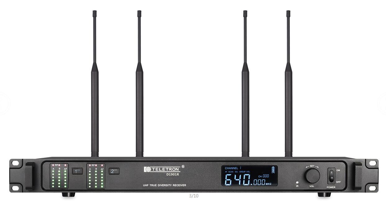 D1901R全數字雙通道無線接收機
